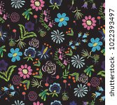 untitled bright floral... | Shutterstock .eps vector #1022393497