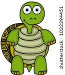 cute turtle standing   | Shutterstock .eps vector #1022394451