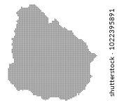 pixel mosaic map of uruguay on...