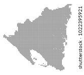 pixel mosaic map of nicaragua...