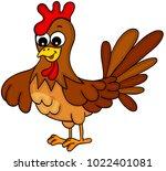 cute hen chicken   | Shutterstock .eps vector #1022401081