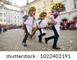 ljubljana  slovenia on february ...   Shutterstock . vector #1022402191