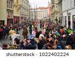 ljubljana  slovenia on february ...   Shutterstock . vector #1022402224