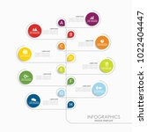 infographic template. vector... | Shutterstock .eps vector #1022404447