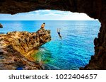 Sea Cave Near Cape Greko Of...