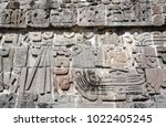 bas relief carving with of a... | Shutterstock . vector #1022405245