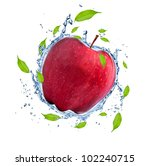 red apple in water splash ... | Shutterstock . vector #102240715