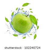 green apple in water splash ... | Shutterstock . vector #102240724