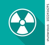 radiation symbol icon with long ... | Shutterstock .eps vector #1022416291