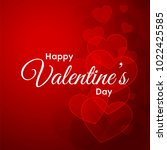 happy valentines day typography ... | Shutterstock .eps vector #1022425585
