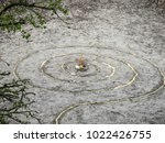 magic spiral works wicca altar. ... | Shutterstock . vector #1022426755