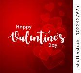 happy valentines day typography ... | Shutterstock .eps vector #1022427925