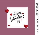 happy valentines day typography ... | Shutterstock .eps vector #1022428087