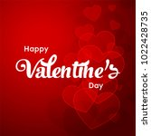 happy valentines day typography ... | Shutterstock .eps vector #1022428735