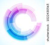 geometric frame from circles ... | Shutterstock .eps vector #1022430565
