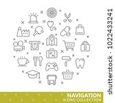 collection of navigation thin... | Shutterstock .eps vector #1022433241