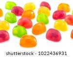 fruit gummi or jelly candies... | Shutterstock . vector #1022436931