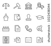 law icon set  linear design.... | Shutterstock .eps vector #1022438344