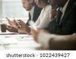diverse office people working... | Shutterstock . vector #1022439427