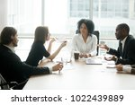 diverse business partners... | Shutterstock . vector #1022439889