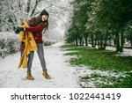 woman undressing when see that... | Shutterstock . vector #1022441419