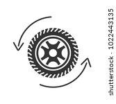 automobile wheel changing glyph ... | Shutterstock .eps vector #1022443135