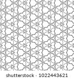 seamless ornamental vector... | Shutterstock .eps vector #1022443621