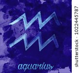 aquarius icon of zodiac  vector ... | Shutterstock .eps vector #1022445787