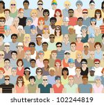 crowd of sports spectators.... | Shutterstock .eps vector #102244819