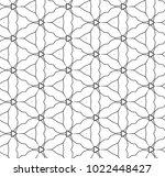 seamless ornamental vector... | Shutterstock .eps vector #1022448427