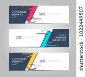 vector abstract design banner... | Shutterstock .eps vector #1022449507