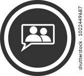 conversation icon  circle sign
