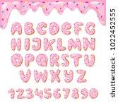 alphabet donut vector kids... | Shutterstock .eps vector #1022452555
