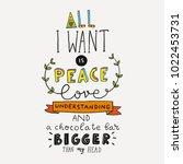 funny vector hand lettering... | Shutterstock .eps vector #1022453731