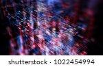 block chain network concept  ... | Shutterstock . vector #1022454994