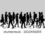 street of the city . | Shutterstock .eps vector #1022456005