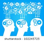 social network  communication... | Shutterstock .eps vector #102245725