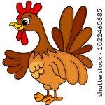 cute farm chicken  | Shutterstock .eps vector #1022460685