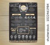 vintage chalk drawing bakery... | Shutterstock .eps vector #1022461984