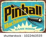 pinball machines game room... | Shutterstock .eps vector #1022463535