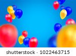 birthday template with balloons ... | Shutterstock . vector #1022463715