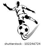 football goal | Shutterstock .eps vector #102246724