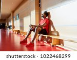 exhausted thoughtful handsome... | Shutterstock . vector #1022468299