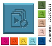 tag playlist engraved icons on... | Shutterstock .eps vector #1022472331