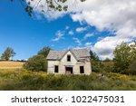 derelict house in new brunswick ... | Shutterstock . vector #1022475031