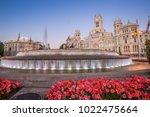 plaza de la cibeles  cybele's... | Shutterstock . vector #1022475664