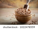 raw organic chickpeas in a...   Shutterstock . vector #1022478559