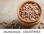 raw organic chickpeas in a...   Shutterstock . vector #1022478565