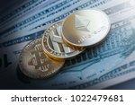 top view closeup exchange... | Shutterstock . vector #1022479681