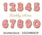 sweet hand drawn numbers set... | Shutterstock .eps vector #1022480629